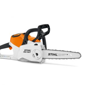STIHL MSA160 C-B cordless chainsaw, available from Meldrums Garden Machinery & Equipment, Cupar, Fife