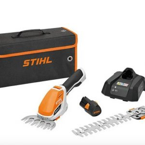 STIHL HSA 26 cordless hedge trimmer kit available from Meldrums Garden Machinery and Equipment, Cupar, Fife