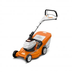 STIHL RMA 448 TC cordless lawnmower available from Meldrums Garden Machinery and Equipment, Cupar, Fife
