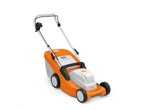 Stihl RME 443 electric lawnmower available from Meldrums Garden Machinery and Equipment, Cupar, Fife